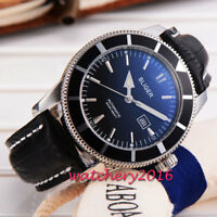 46mm Bliger Black Dial Stainless Steel Case Date Automatic Movement men's Watch