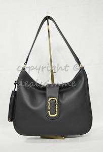 MARC By Marc Jacobs M0011064 Leather Interlock Hobo / Shoulder Bag - Black $550