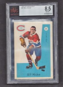 1959 Parkhurst #31 Bill Hicke BVG 8.5 NM-MT+, Vintage Montreal Canadiens Hockey
