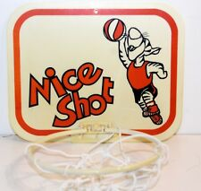 Tiger Vintage Door / Wall Basketball Hoop with Net Nice Shot