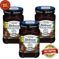 Dickinson's Sugar Free Cherry Preserves, 8 oz (Pack of 3)