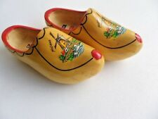 Pair Of Authentic Wooden Clogs Made In Holland Size 25 Cm. Windmills & Bridge