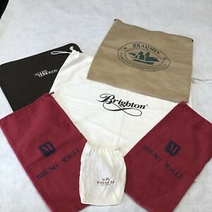 Lot of 6 Dust Cover Bags for Shoes Purse Coach Brahmim Bruno Magli Brighton plus