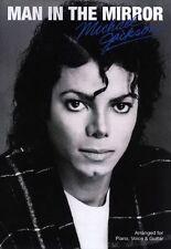 Michael Jackson Man In The Mirro Learn PIANO Guitar PVG SHEET Music Book
