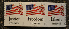 2012USA #4629-4632 Four Flags 2012 Forever Coil (AVR) Strip of 3 PNC Mint plate