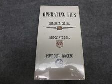 Chrysler Cirrus Dodge Stratus Plymouth Breeze Operating Tips VHS Tape NEW 16781
