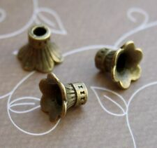 Antique Bronze Bead Caps - Pack of 20 pcs