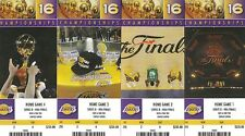 2011 NBA LAKERS NBA FINALS PLAYOFFS FULL UNUSED TICKETS - ALL 4 HOMES GAMES KOBE
