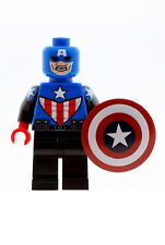 Custom Designed Minifigure Captain America Version 2 Printed On LEGO Parts
