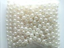 400 Calidad Acrílico perlas de imitación Imitación Perlas Blanco Puro 4mm Boda