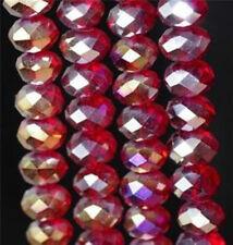 360PCS Red AB Swarovsk Crystal loose Beads 6x8mm