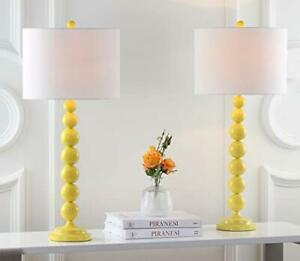 Safavieh Lighting Collection Jenna Yellow Stacked Ball 32-inch Bedroom Living...