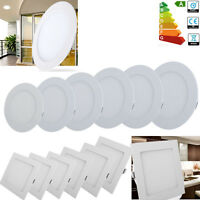 10x 20x 3W 6W 9W 12W 15W 18W LED Recessed Ceiling Panel Light Down Lamp US Ship