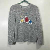Christopher & Banks Marled Knit Polar Bear Ugly Christmas Sweater Size Medium