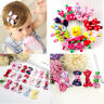 10 Pcs/lot Girls Candy Color Kids Bow Alligator Clip Children Hair Accessories