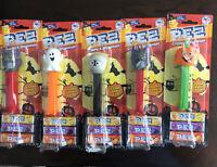 Lot Of 5 HALLOWEEN PEZ Dispensers, Bat X 2 ,Skeleton, Ghost, Pumpkin