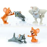 1 Set of 5 Disney Tom & Jerry Figures Figurines Toy Ornament Cake Decor 4-6cm