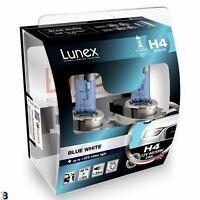 Lunex H4 Halogen Birnen Blue White 3700K 12V 60/55W 472 Blau Weiß Premium Set