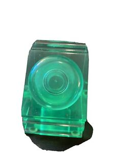 Beautiful Levenger Green Lucite Inkwell & Lid Great Art Deco Design And Color