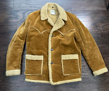 Vintage H Bar C Ranchwear Sherpa Lined Jacket Coat Western Cowboy Mens Medium