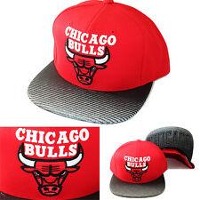 Mitchell & Ness Chicago Bulls Snapback Hat chicago City under Visor Red Cap