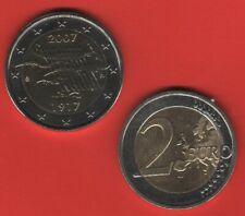 PIÈCE 2 EURO COMMEMORATIVE FINLANDE 2005 50 ANS UNO   TRÈS BON ETAT