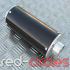 BLACK BIG BORE PIT DIRT BIKE EXHAUST MUFFLER 50cc 110cc 125cc 140cc PITBIKE