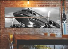 Vintage Airplane Propeller Wall Art Decor Picture / DC-3 Aviation Canvas Set