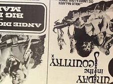 m4-8a ephemera 1970s film advert sunday in the country big bad mama