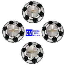 ( SET OF 4) NEW OEM 14-2019 SILVERADO/TAHOE CHROME 6-LUGS CENTER WHEEL CAP HUB