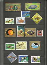 Fische Sellos Stamps