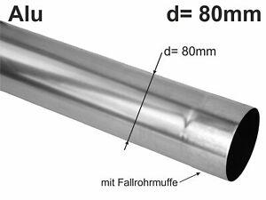 Alu Fallrohr rund d= 80mm  2m (1St a'2m)