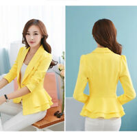 Jacket Women Slim OL Suit Casual Blazer FASHION Coat Tops LADY SLIM Outwear