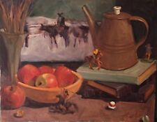 Western Cowboy Indians Still Life oil painting by Margaret Aycock Oklahoma