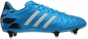 adidas Mens Football Boots 11 Questra SG Solar Blue/White/Core Black, UK 11.5