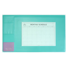 "10day shipping, Basic Mint Desk Pad 22x13"" with Monthly Schedulers"