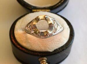 Vintage Platinum Ring Mounting
