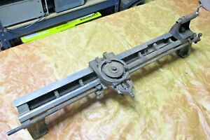 """Antique 3"""" Lathe Parts - Bed Tailstock Carriage -- Bed = 26 1/2"""" , Ways = 2 5/8"""""""