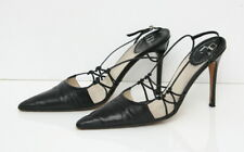 Christian Dior Women's Shoes Heels Black Size 37 Made in Italy