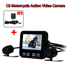 Motorcycle Mounted Biker Action Video IP57 Lens Camera DVR Wonvon Wide Angle+GPS