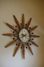 Vintage Mid Century Modern Seth Thomas Sunburst or Starburst CONCEPT Wall Clock