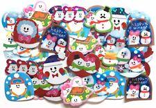 Lovely Ski Flake Sticker 71 Ghost Winter Sports Snow Heart Scrapbook Q-lia JAPAN