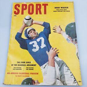 1956 SPORT MAGAZINE JANUARY BILL RUSSELL DOAK WALKER ROCKY GRAZIANO GEORGE HALAS