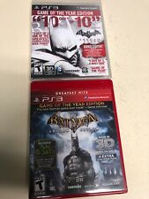 Ps3 Batman Arkham Asylum And Arkham City Game Of The Year Editions