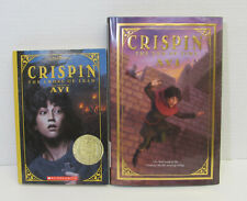 Lot 2 CRISPIN the Cross of Lead & The End of Time AVI Books #1 & 3 NEWBERY MEDAL