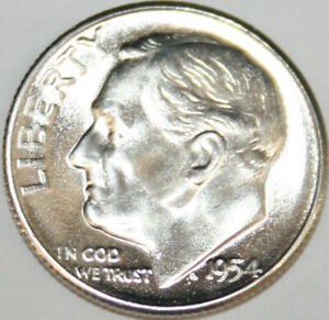 1954-S  Roosevelt Dime BU uncirculated gem!