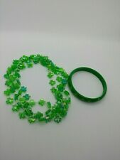 Fun St. Patrick's Day Green Necklaces And Bracelet Set