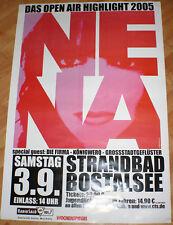 RIESIGES KONZERT - POSTER PLAKAT NENA 99 x 68 cm Open Air 2005 NEU SELTEN RAR