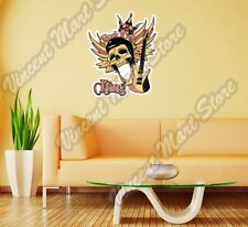 "Rock 'n Roll Skull Music Guitar Gift Wall Sticker Room Interior Decor 20""X25"""