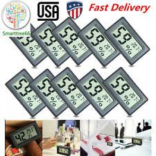 US 10PCS Mini Digital LCD Thermometer Hygrometer Temperature Humidity Meter